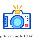 Photo Camera Icon Vector Outline Illustration 63411141