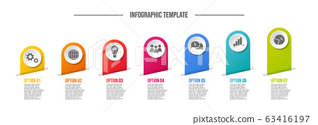 Concept of a infographic with business icons 63416197