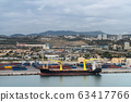 Port in Marseille, container terminal. France 63417766