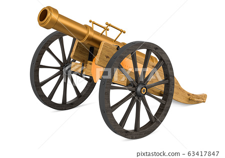 Old cannon for fireworks. 3D rendering 63417847