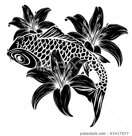 Giant carp fish vector illustration silhouette image 63417977