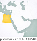 Map of Middle East - Egypt 63418586