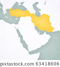 Map of Middle East - Turkey and Iran 63418606