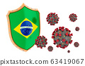 Protection of Brazil from coronavirus. 3D 63419067