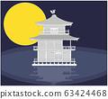"Kyoto ""Kinkakuji"" paper craft style 63424468"