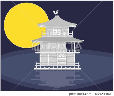 """京都""""金阁寺""""纸制工艺品 63424468"""