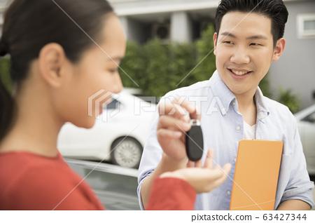 女人收到車鑰匙 63427344