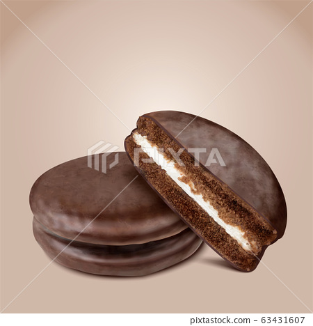 Choco pie with half section 63431607