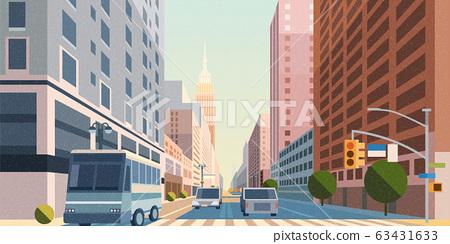 Manhattan street scene 63431633