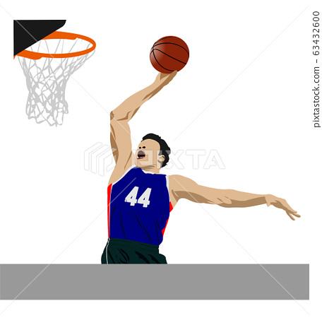 Basketball players. Vector illustration 63432600