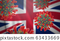 Concept of new coronavirus epidemic outbreak in United Kingdom 63433669