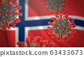 Concept of new coronavirus epidemic outbreak in Norway 63433673