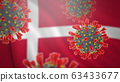 Concept of pandemic novel coronavirus outbreak in Danemark 63433677