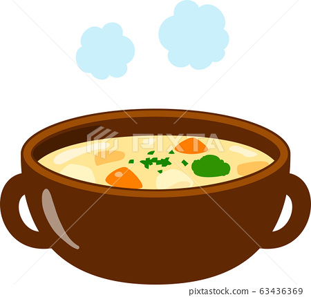 White stew in a bowl 63436369