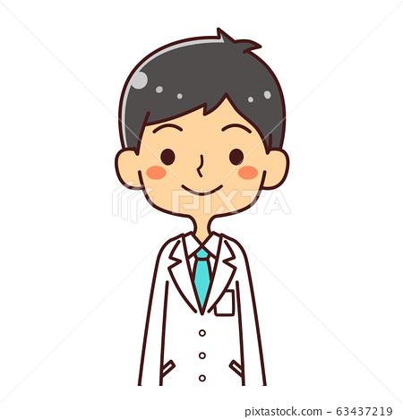 의사 닥터 젊은 남성 미소 일러스트 63437219