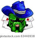 playing card and bulldog vector illustration design 63440938