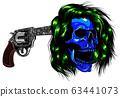 Pistol at the temple, vector illustration design 63441073