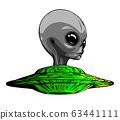 Space Aliens. UFO icon. vector illustration art 63441111