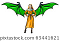 vector illustration of a sexy nun with wing 63441621
