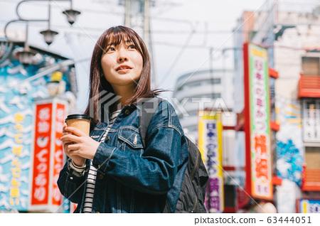 在大阪觀光的女人 63444051
