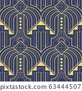Abstract art deco geometric pattern vector 63444507