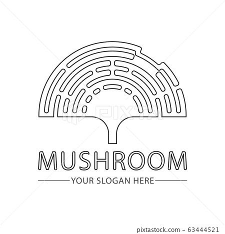 Abstract mushroom logo for company vector 63444521