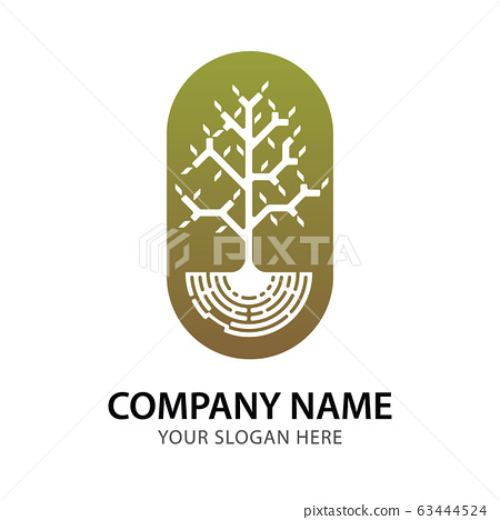 Abstract branch and tree logo for company vector 63444524