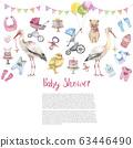 Baby shower banner 63446490