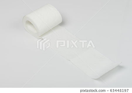 One soft edge of toilet paper 63448197