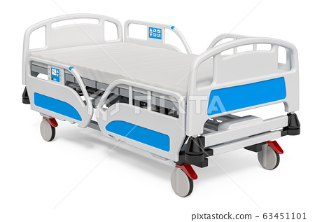 Modern adjustable hospital bed, 3D rendering 63451101