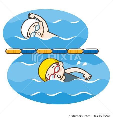 游泳比賽 63451598