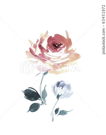 色彩豐富的花卉素材組合和設計元素 63451972