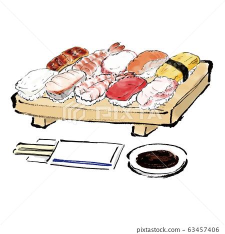 插图素材,什锦,什锦,食品,日本料理,美食,寿司,饭,寿司,寿司,寿司,寿司, 63457406