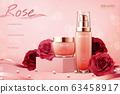 Elegant rose cosmetic ads 63458917