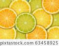 Sliced citrus background 63458925