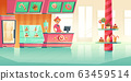 Bakery and candy shop interior with cashier 63459514