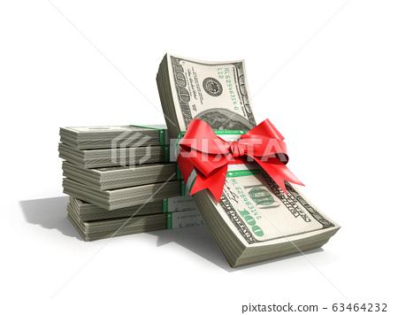concept of money Deposite Bonus Stack of dollar 63464232