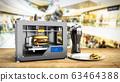 3D printer print burger 3d render Success food 63464388
