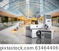 air conditioning equipment 3d rensder on market 63464406