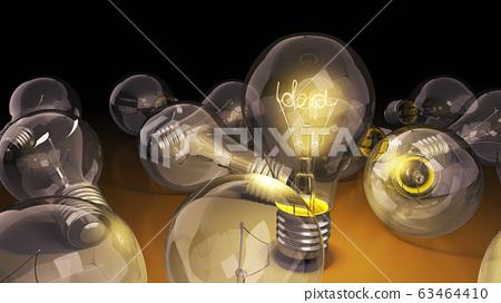 concept of idea light bulb with word idea inside 63464410