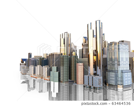 panorama cityscape modern high-rise buildings 63464536