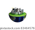 Urbanization concept with globe and city on 63464576