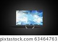 4k monitor 3d render image on black background 63464763