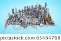 Architectural 3D model illustration of a large 63464768