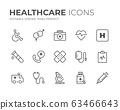 Healthcare Line Icons Set 63466643
