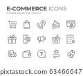 E-Commerce Line Icons Set 63466647