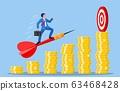 Businessman aim arrow to target 63468428