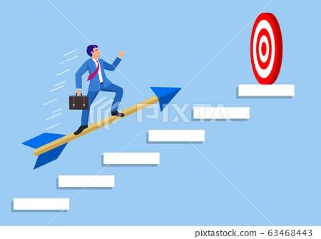 Businessman aim arrow to target 63468443