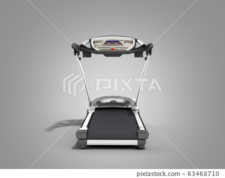 3d rendering treadmill or running machine on grey 63468710