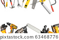 construction background with tools 3d render on 63468776